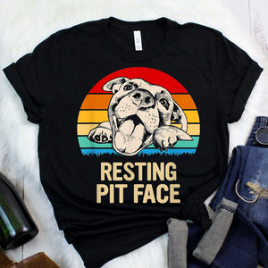 Plenty of Pitbulls (Gainesville, FL) - Resting Pit Face T-Shirt