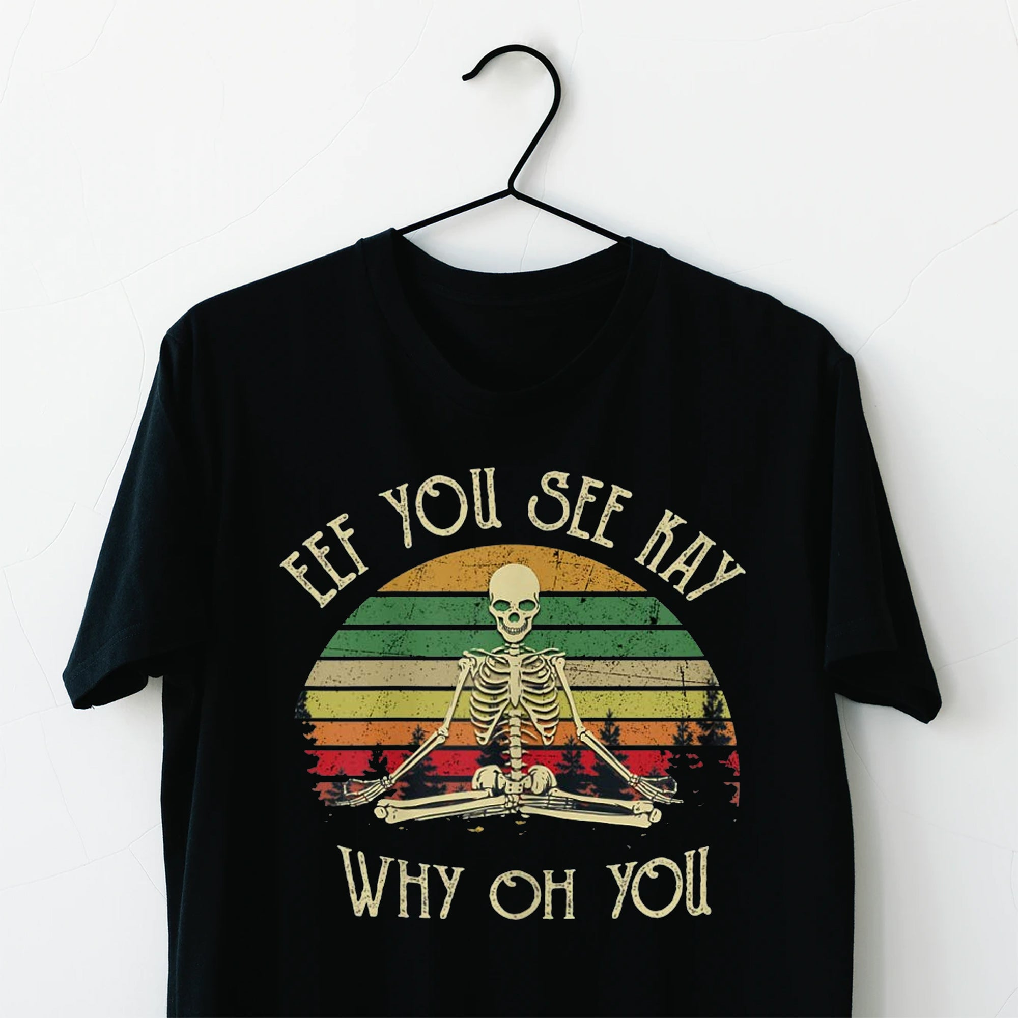 Womens Eff You See Kay Why Oh U Skeleton Yoga T-Shirt