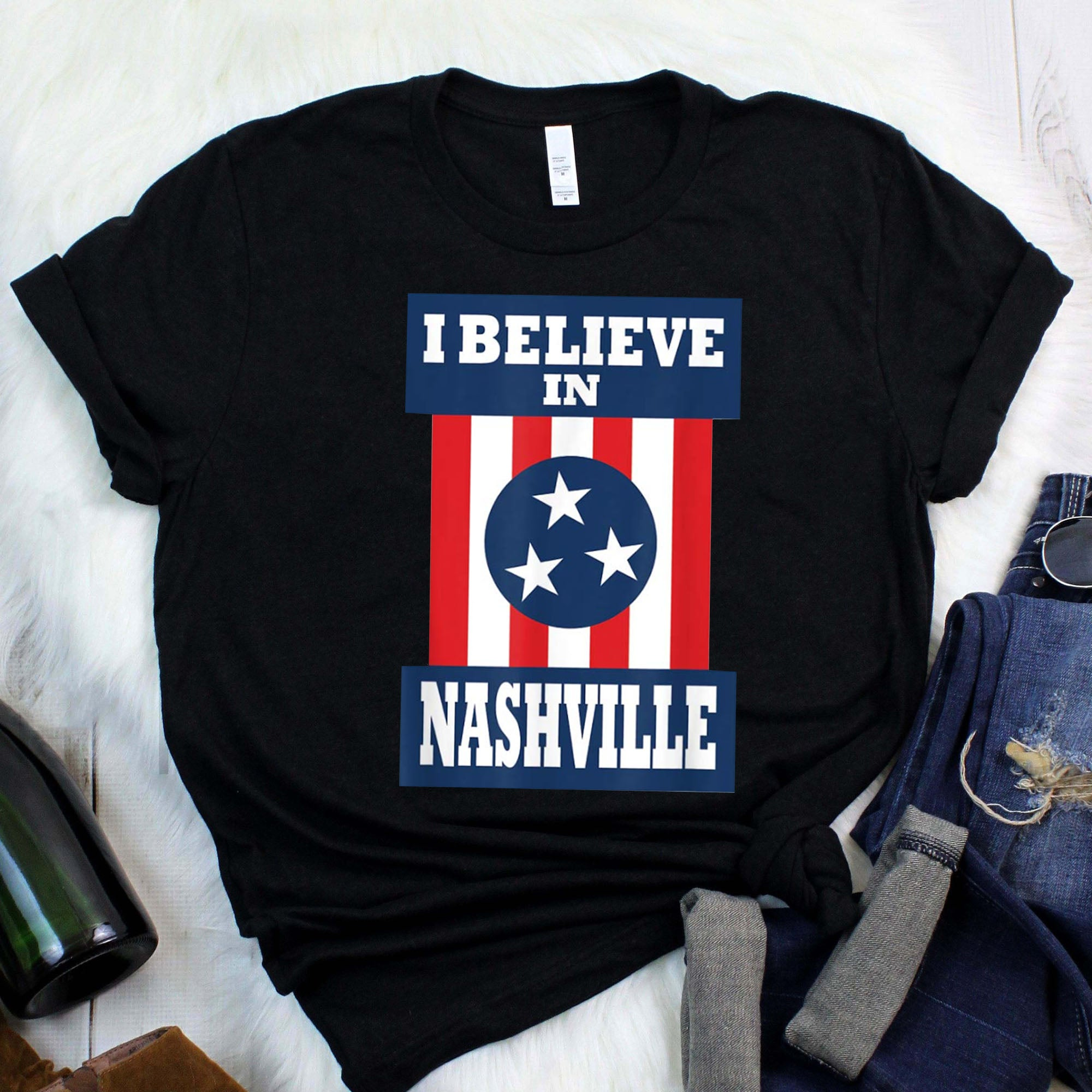 Tornado Nashville Strong I Believe In Tennessee White T-Shirt