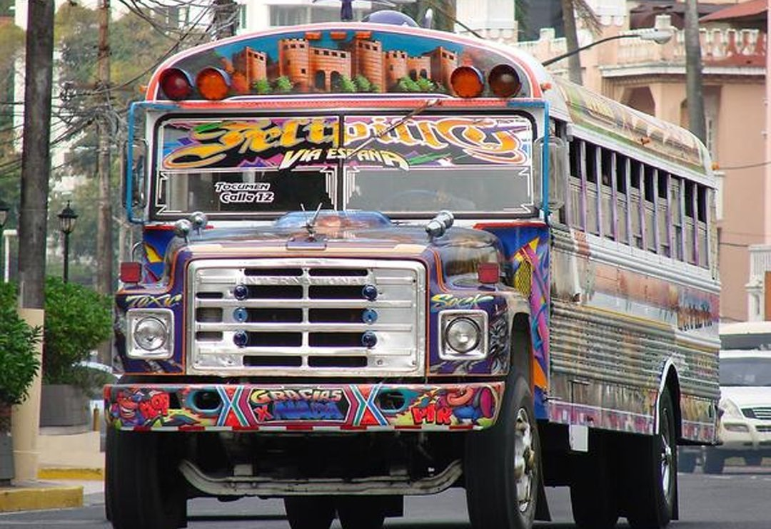 Chicken Bus Travel Around Central America