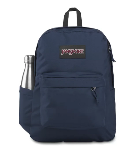 Jansport Superbreak Plus in Navy - Perfect for School or Daily Commute