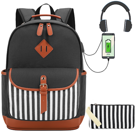 Meisohua Easy-Access Backpack for School
