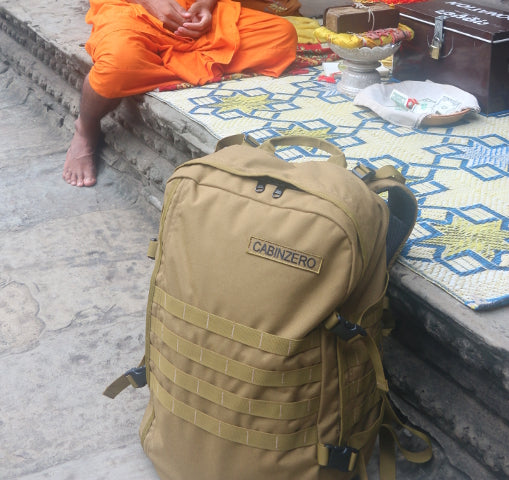 Siem Reap CabinZero temple travel carry on