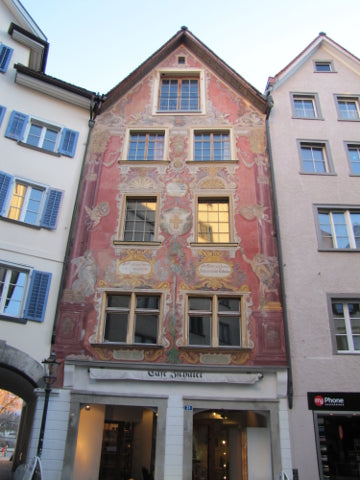 chur town architecture switzerland