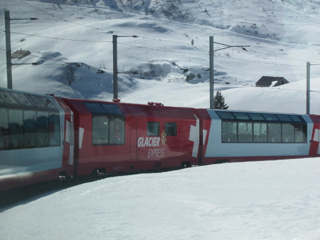 glacier express train journey switzerland alps