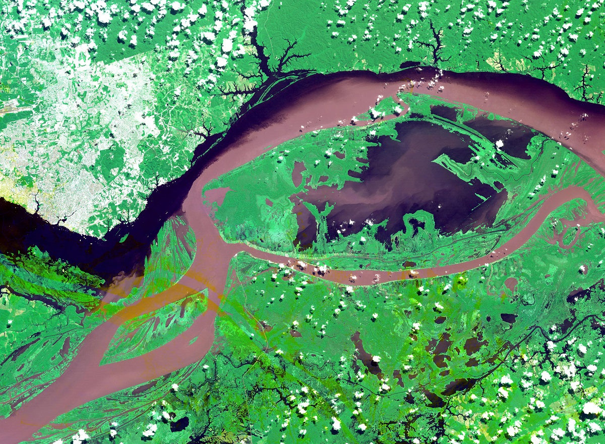 manaus brazil world cup nasa aster satellite image