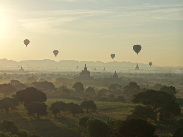 myanmar bagan ballooning dawn travel cheap flights