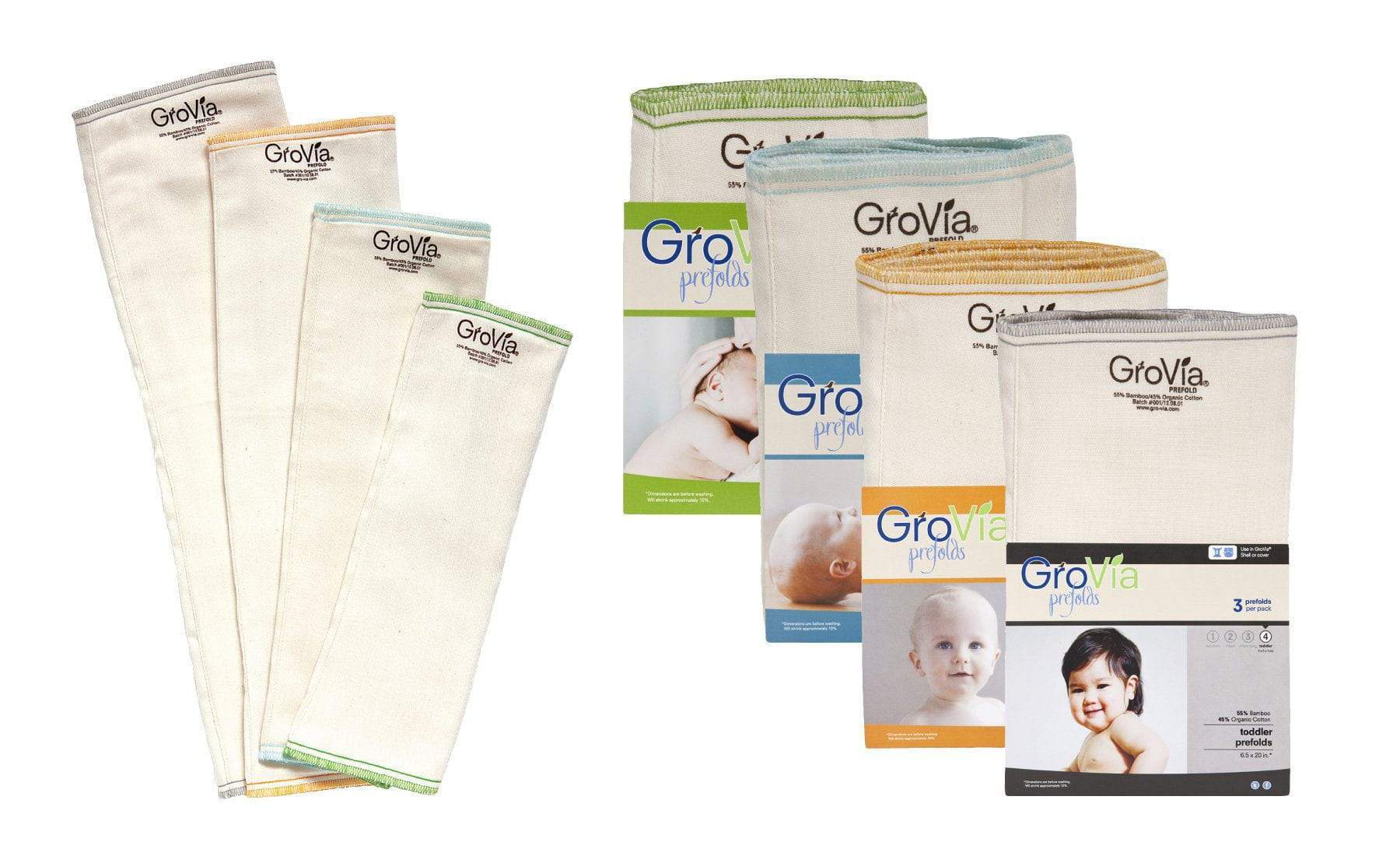 Absorbency Prefold Cloth Diapers