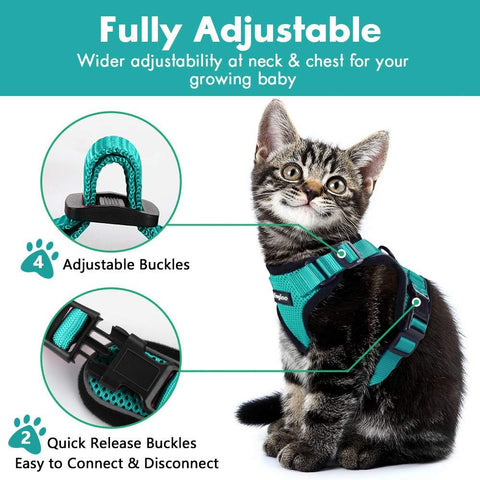 Reflective Escape Proof Pet Harness With Leash