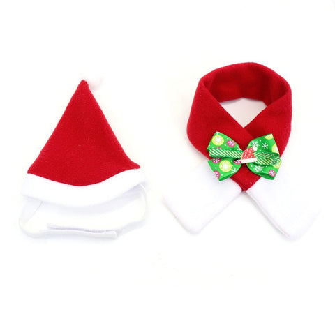 Christmas PET Hat Scarf Accessories
