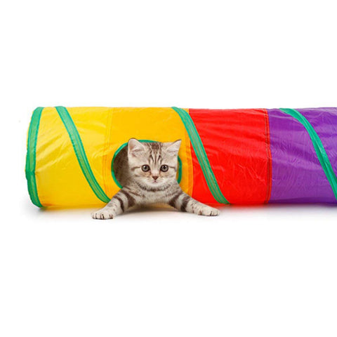 Cat Tunnel Tube Toy for Puzzle Exercising Hiding Training