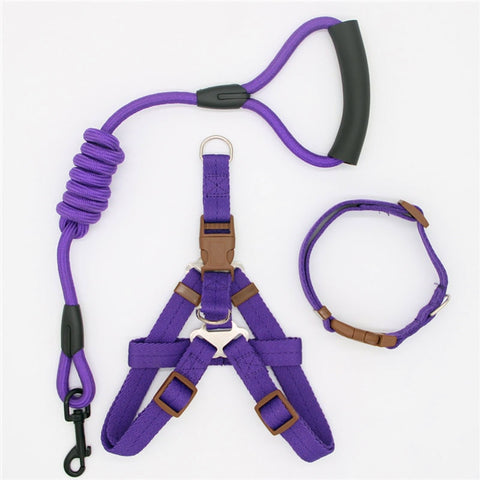 Nylon Durable Fancy Pet Leash Harness and Collar