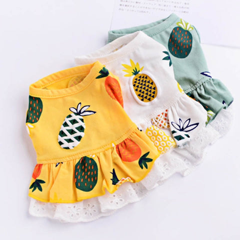 Fruit Print Pet Summer Dress