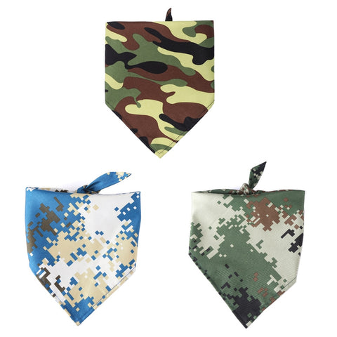 Single Layer Camouflage Pattern Pet Bandana