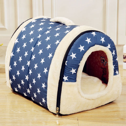 Foldable House Cum Sofa for Pets BLUE
