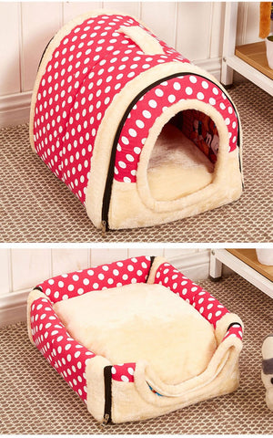 Foldable House Cum Sofa for Pets RED