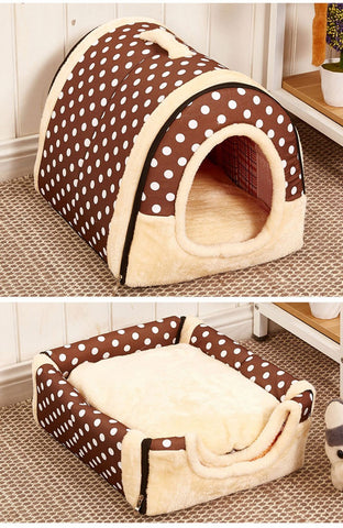 Foldable House Cum Sofa for Pets BROWN