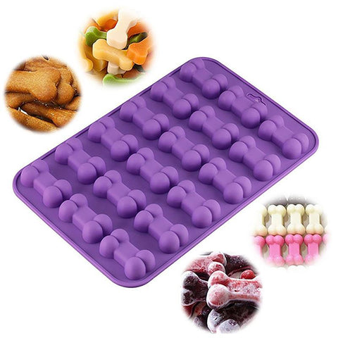 3D Bone Ice Trays Silicone Pet Treat Chocolate Jelly Candy Baking Moulds