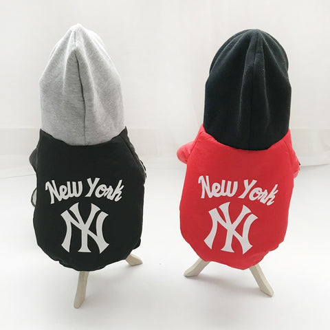 Warm Thick Pet Jacket NY Hoodie