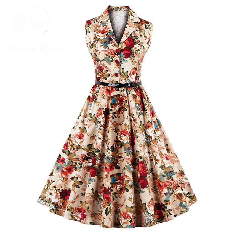 Vintage Swing Floral Party Dress