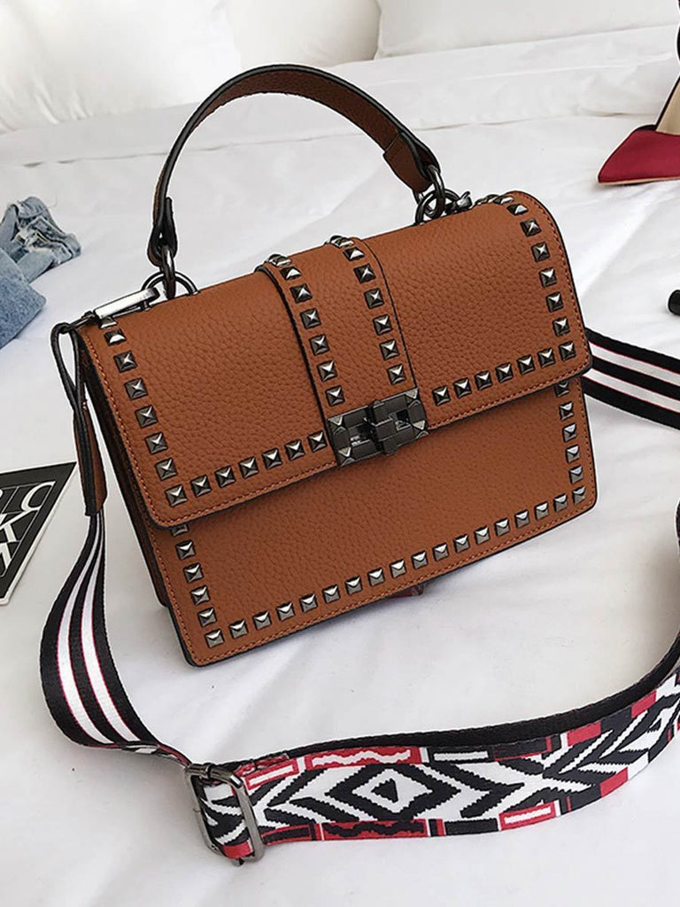 Women Bag Fashion Rivet Messenger Bag