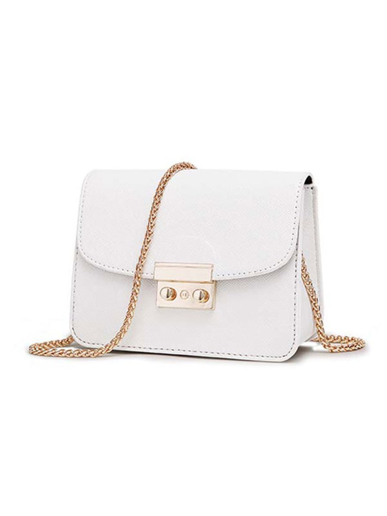 Women Bag Leather Chain Messenger Bag