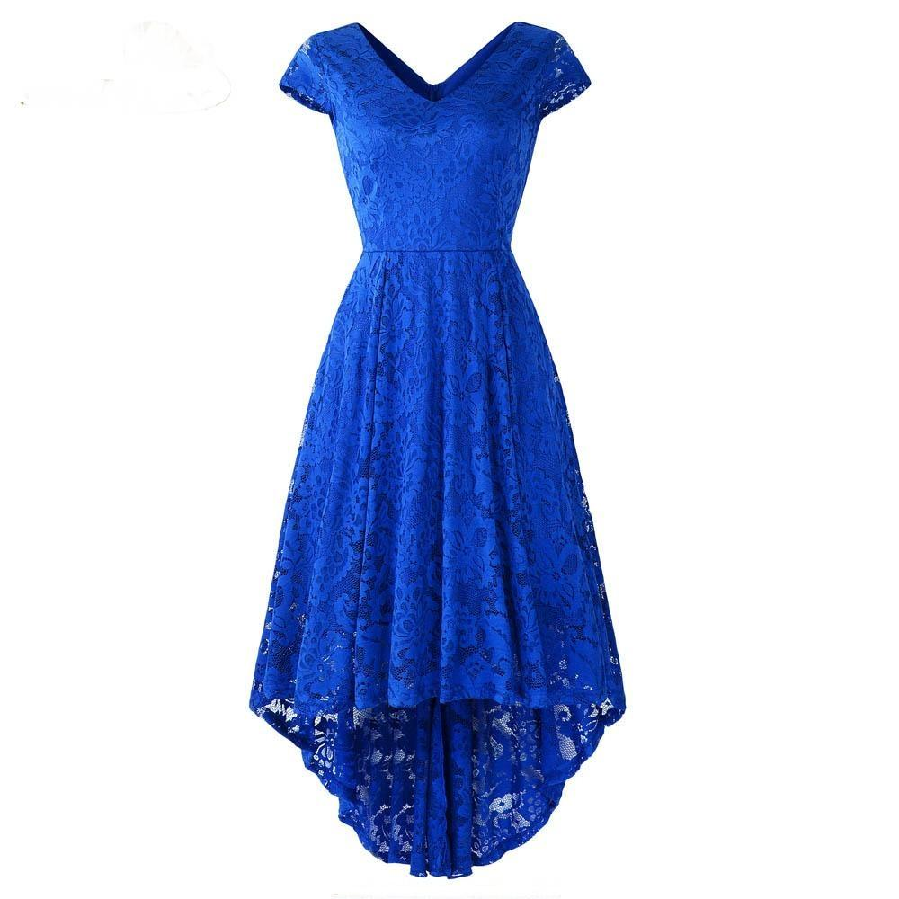 Cap Sleeve Lace Skater Dress