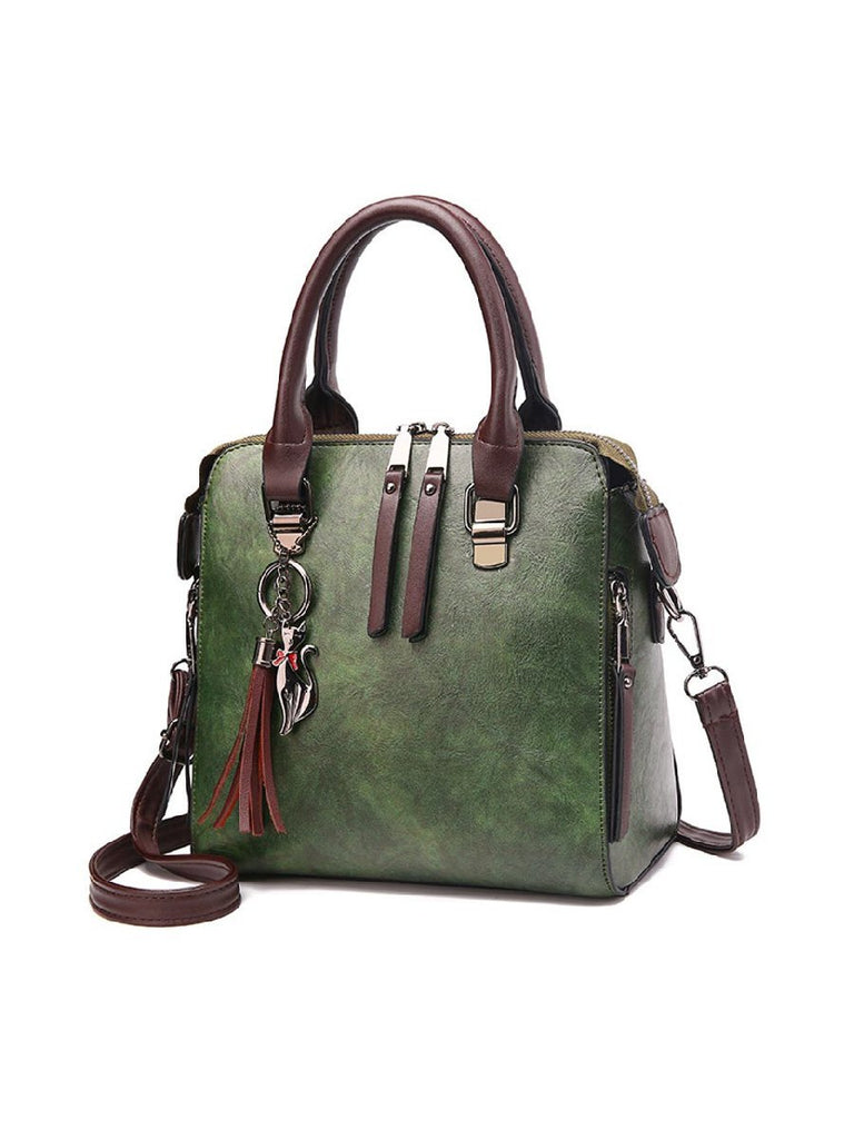 Vintage Ladies HandBag Women PU Leather Messenger Bag