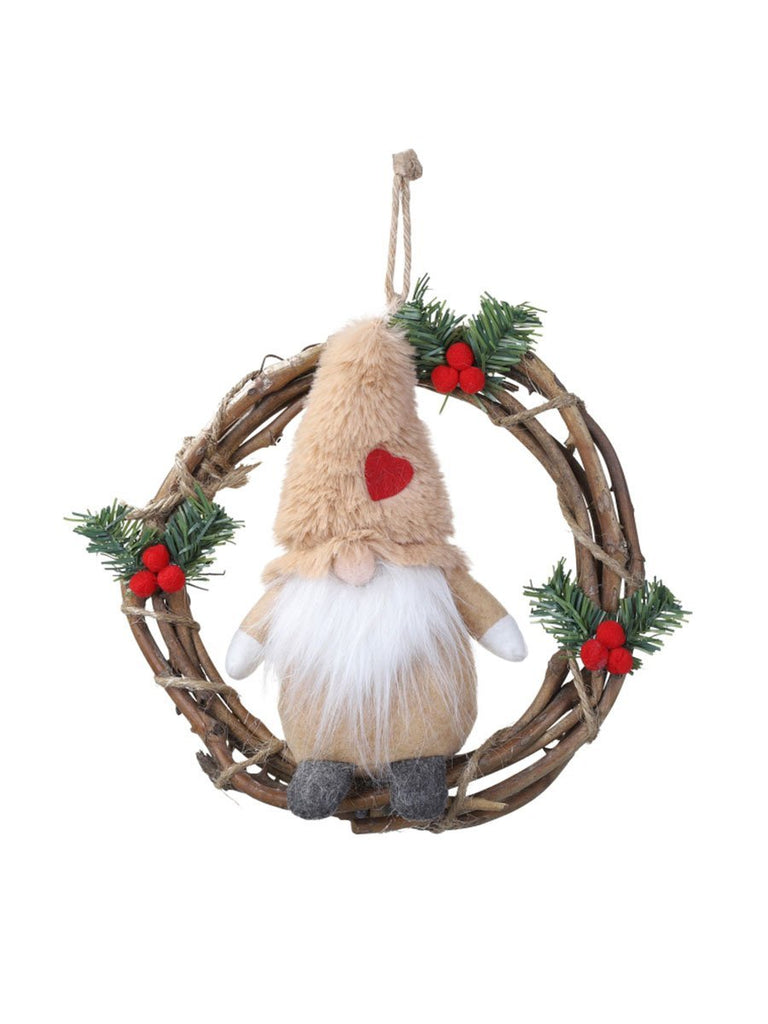 Handmade Stuffed Toy Dwarf Elf Christmas Ornament