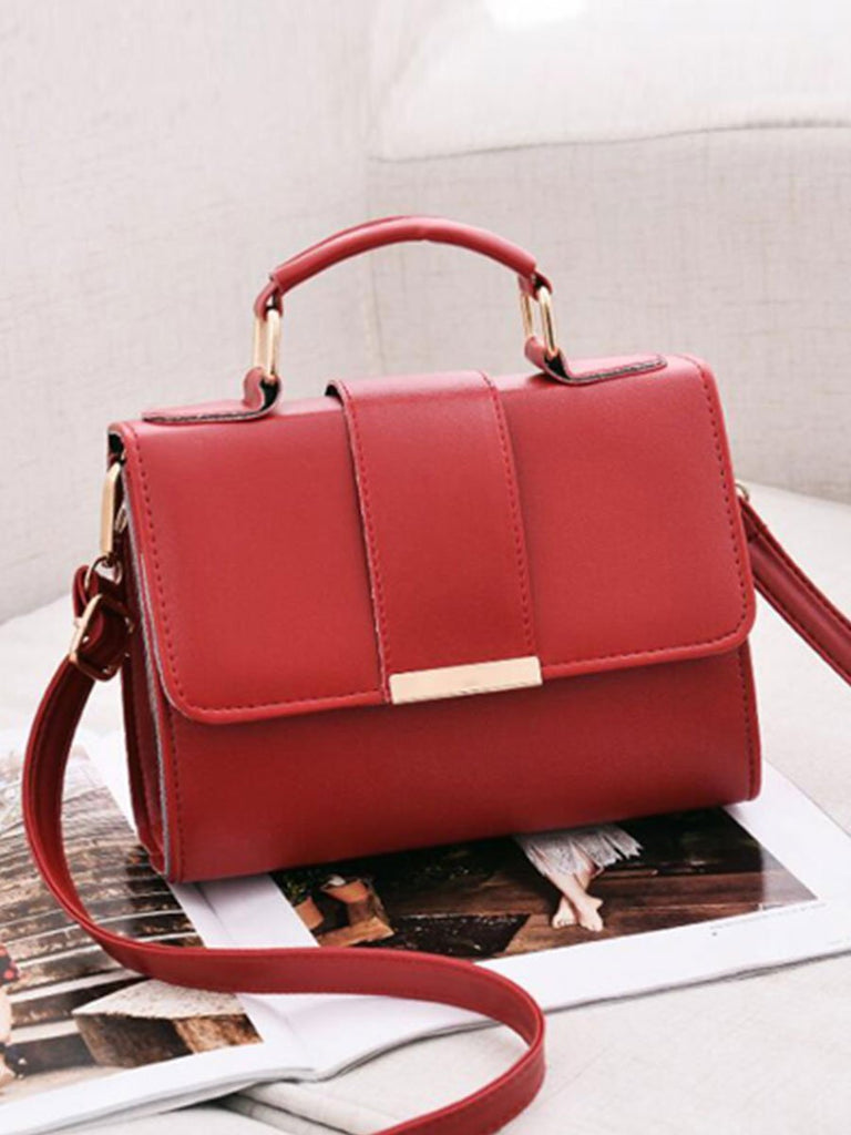 Women Bag Leather Flap Crossbody Handbag