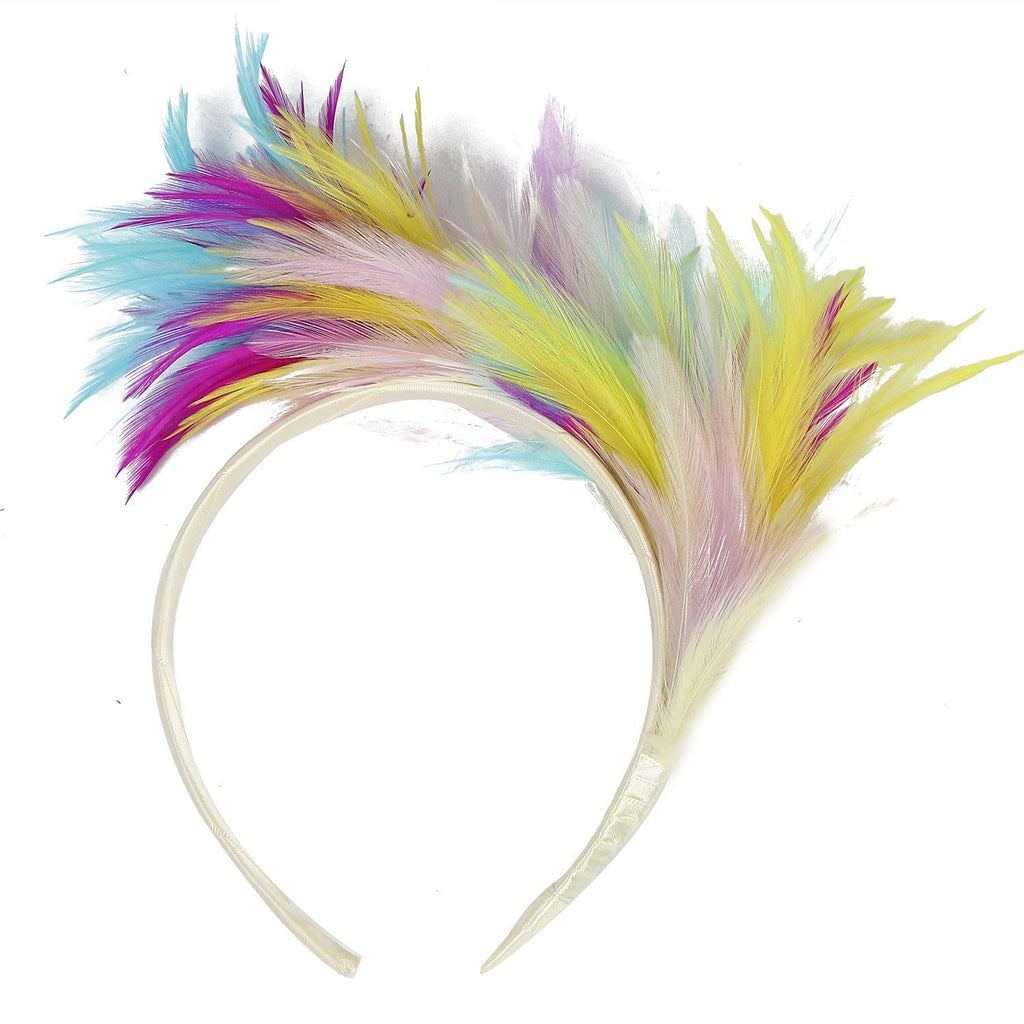 Hair Accessories Women Headbands Vintage gumka do wlosow заколки для волос Colorful Feather Carnival Festival Party Hairband #H