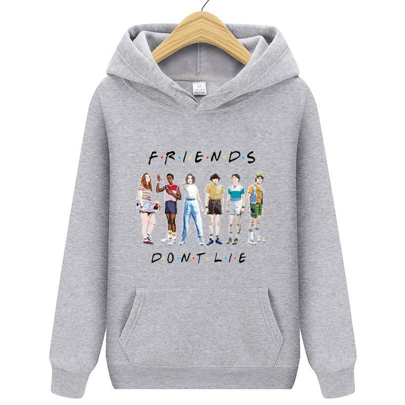 Hip Hop Sweatshirt Stranger Things Hoodies Men Women Letters Print Pullovers