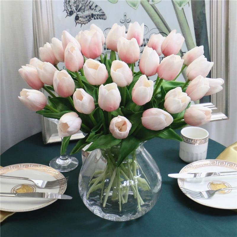 31PCS/LOT Mini Tulip Flower Bouquet For Mother