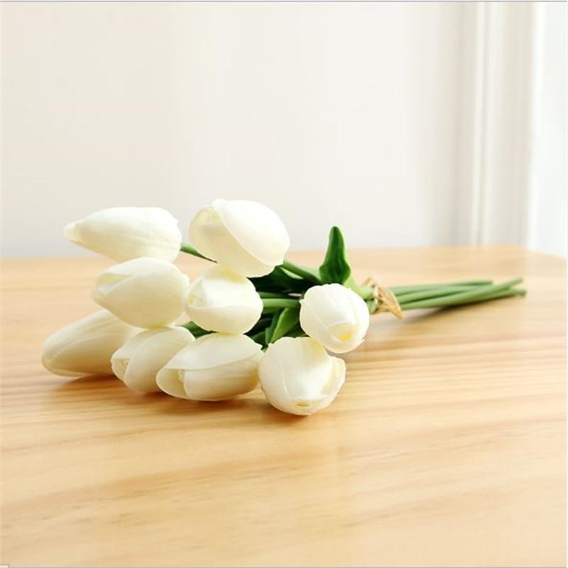 31Pcs/Lot Tulips Artificial Flowers PU Calla Fake Flowers