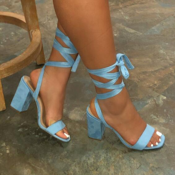 Bright Candy Color Cross Straps Bottom Sandals