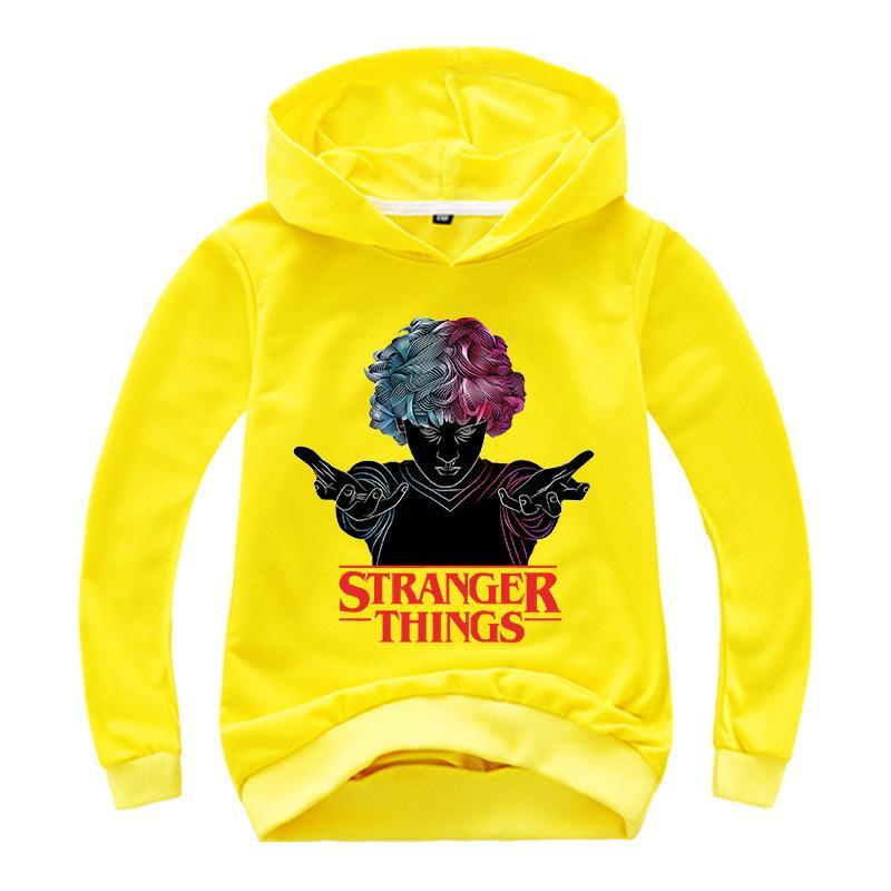 Kids Stranger Things Hoodie Sweatshirts Long Sleeve T-shirt Kids Clothes Top Tee