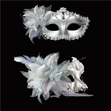Brazilian Carnival Accessory Mysterious Single-sided Feather Half Face Mask