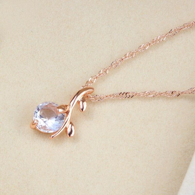 Gold Color Austrian Crystal Pendants Necklaces Earrings Jewelry Sets For Women