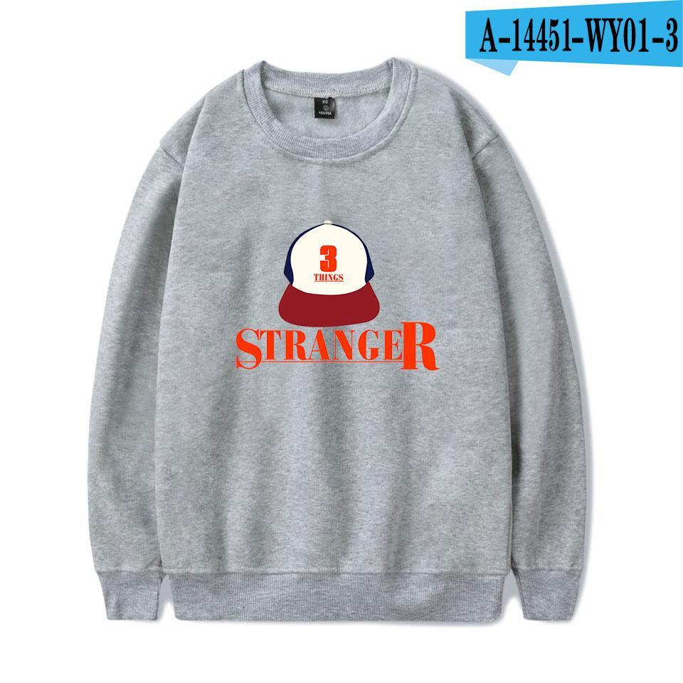 Stranger Things Fashion Printed O-Neck Sweatshirts Long Sleeve Sweatshirt Casual Streetwear