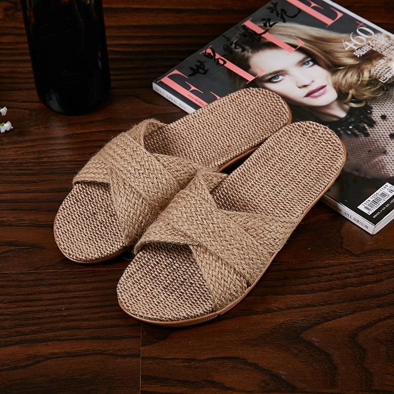 Flax Non-slip Home Shoes