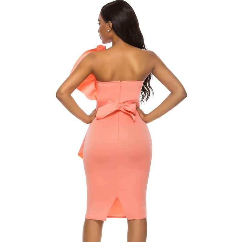 Tube Top Off Shoulder Backless Slim Dress