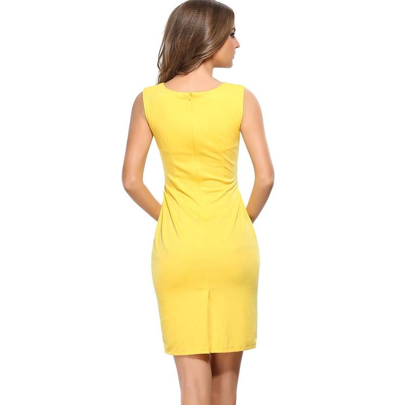 Office Pencil Dress Hollow Out Sleeveless Fashion Dress