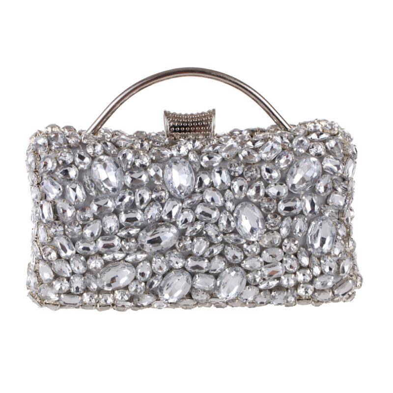 Beaded Crystal Clutch Evening Bag Rhinestones Handbag