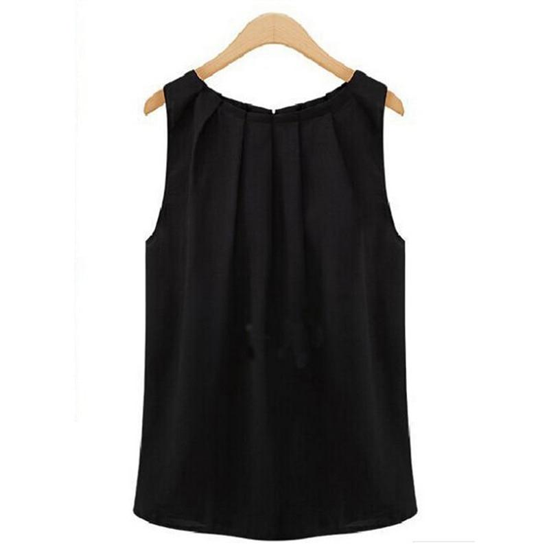Sleeveless Vest Solid All-match Basic O-neck Top