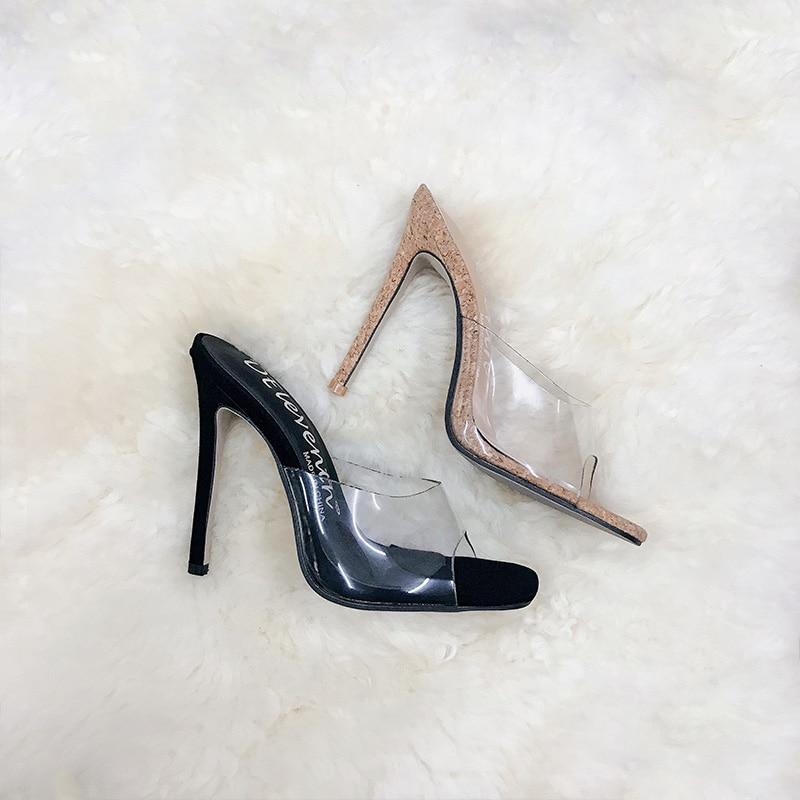PVC Jelly Open Toe High Heels Sandals