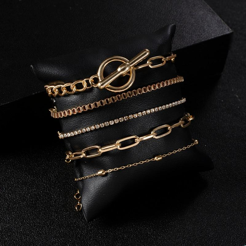 5PCs Easy Hook Fashion Crystal Bracelets