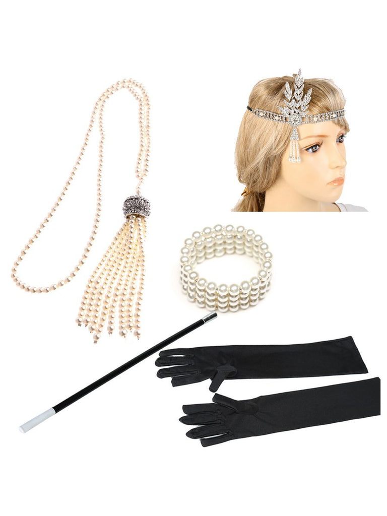 1920s Flapper Costume Accessories Set for Women