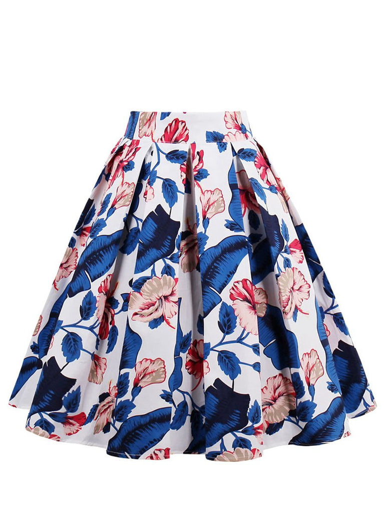 Skirt Fresh Style Floral Pleated Skirt for Women