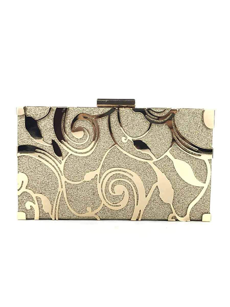 Water Ripple Hollow Clutch Bag