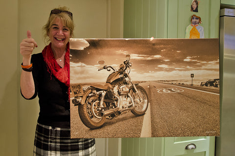 Route 66 Harley art